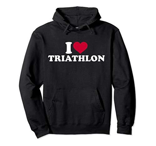 Ich liebe Triathlon Pullover Hoodie (Triathlon Hoodie)