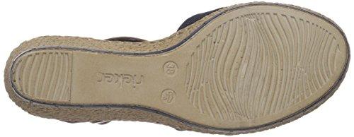 Rieker - 60451, Sandali a punta chiusa Donna Blu (Pazifik/amaretto/denim)