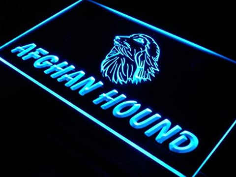 Enseigne Lumineuse i933-b Afghan Hound Dog Pet Shop Neon Light Sign