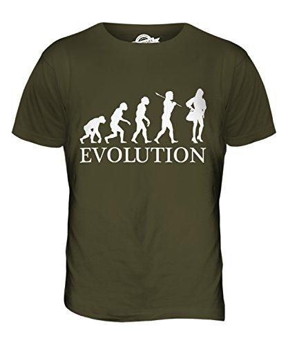 CandyMix Mode Evolution Des Menschen Herren T Shirt Khaki Grün