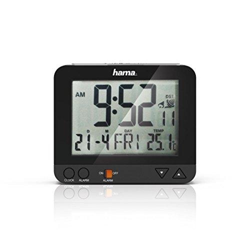 """Hama Funk-Wecker """"RC550"""" sensorgesteuerte Nachtlichtfunktion, Schlummerfunktion, schwarz, Temperatur- und Datumsanzeige - 6"""