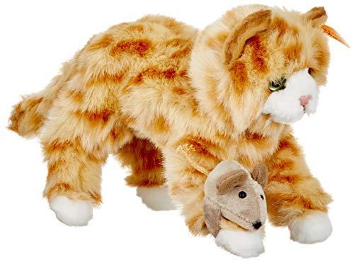 Steiff 099434 - Mimmi Katze 24 gestromelt liegend, rot -
