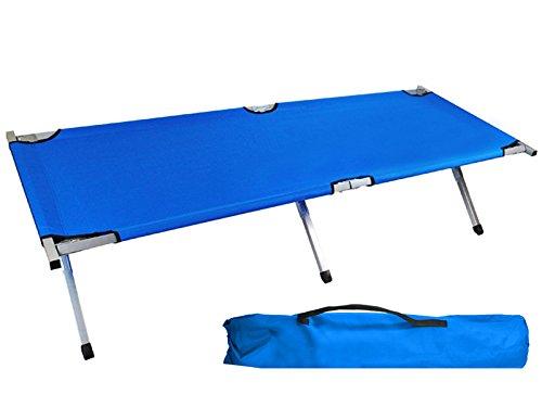 Lit de Camp Canada, lit d'appoint Pliable 195cm couchette avec Sac Voyage Bleu