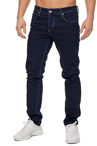 Tazzio Slim Fit Herren Styler Look Stretch Jeans Hose Denim 16533 Dunkelblau 31/30
