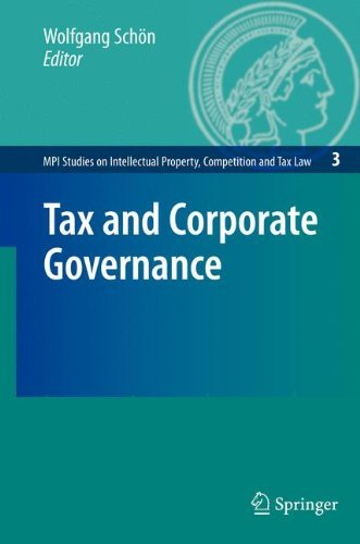 Tax and Corporate Governance (MPI Studies on Intellectual Property and Competition Law Book 3) (English Edition) por Wolfgang Schön (Ed.)