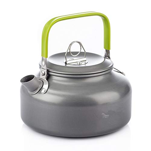Bobopai Aluminum 0.8L 1.2L Outdoor Camping Hiking Kettle Coffee Pot Portable Teapot Kettle, Compact and Lightweight with Silicon Handle -