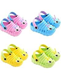 c53bbe191 Oruga Zuecos Unisex Niños Sandalia con Pulsera para Niños Classic Clog Kids  Sandalias Deportivas Zapatos de Playa y Piscina para Bebé…