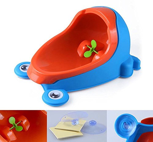 Urinoir de bebe toilette Pot Potty Children Frog Pee Trainer de Salle Colorful Frog Boys Urinoir de formation toilette de bébé par le soleil D pot de toilette bebe (blue)