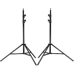 Neewer PRO Kit Support Fixation Lumière Vidéo Robuste 9 Pieds 260cm en Aluminium Alliage pour Photographie Photo Studio Portrait et Eclairage (2 pièces)