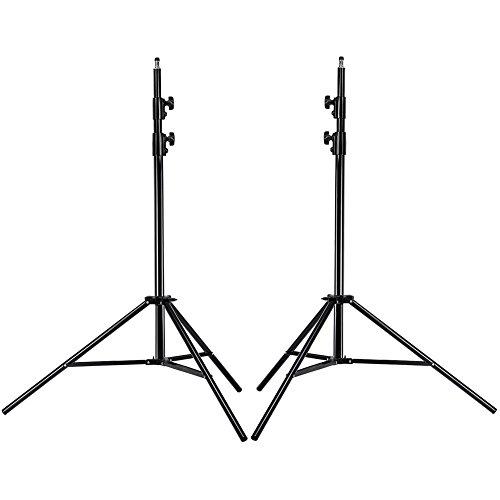 Neewer® PRO 9 Fuß/260cm Hochleistungs Aluminiumlegierung Fotografie Foto-Studio-Licht Stativ Set für Video, Porträt und Fotografie Beleuchtung (2 Stück)