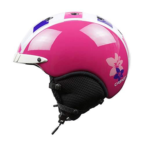 Casco Skihelm für Kinder Mini Pro, pink-Weiss-lila, Gr. S (52-56 cm)