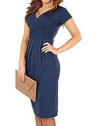 hibote Frauen Mutterschaft Kleid V-Ausschnitt Schwangerschaft Kleidung Pflege Kleid