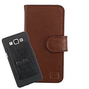 DooDa Genuine Leather Wallet Flip Case Cover With Card & ID Slots For Micromax Canvas HD Plus A190 - Back Cover Not Included Peel And Paste