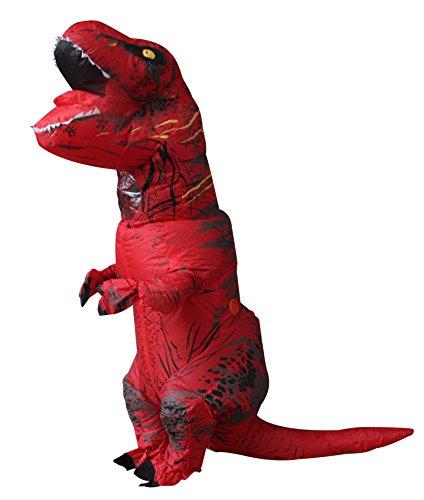 Halloween per adulti gonfiabile t rex partito dinosauro costume divertente dress rosso con zaino e cavo usb