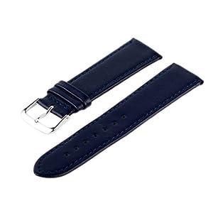 Uhren Lederarmband Blau 18 mm Uhrenarmband Uhrband Uhrenbänder