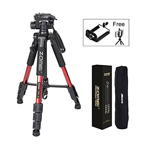 Zomei Q111 55inch Pan Head Panoramic Travel Camera Tripod Lightweight with 1/4