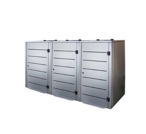 *Gero metall Müllbehälterverkleidung Eleganza Line für DREI 240 Liter Mülltonnen*