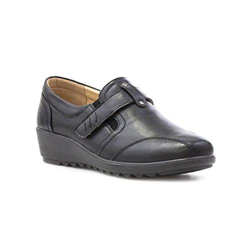 Cushion Walk Womens Black Riptape Comfort Shoe - Size 8 UK -...