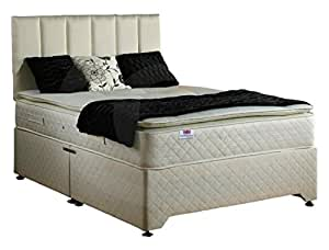 Bed Centre Pillow Top 2 Draw Divan Bed with 28cm Deep Quilted Mattress ...