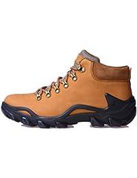 Señoras / Mens zapato de excursionismo zapatos otoño e invierno impermeable antideslizante cuero zapatos deportivos al aire libre para treeking escalada camping , orange , 42
