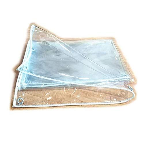 Klare Plane wasserdicht Vorhang für Balkon Fenster Garten Schwimmbad, Dicke transparente Reversible Regenschutzfolie (Größe: 1M \u0026 Times; 1,8M) -