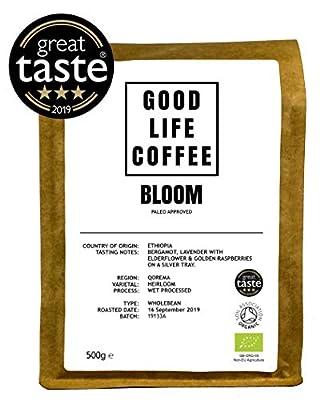 Good Life Bloom Organic Coffee Single Origin Specialty Arabica Great Taste Winner Bulletproof Paleo Coffee Fresh Roasted to Order Great Taste Winner by GOOD LIFE COFFEE