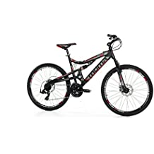 "Moma Bikes Bicicleta Montaña SHIMANO EQX 26"" Alu, 24V, 2x Freno Disco, 2X Susp. (Varias Tallas)"