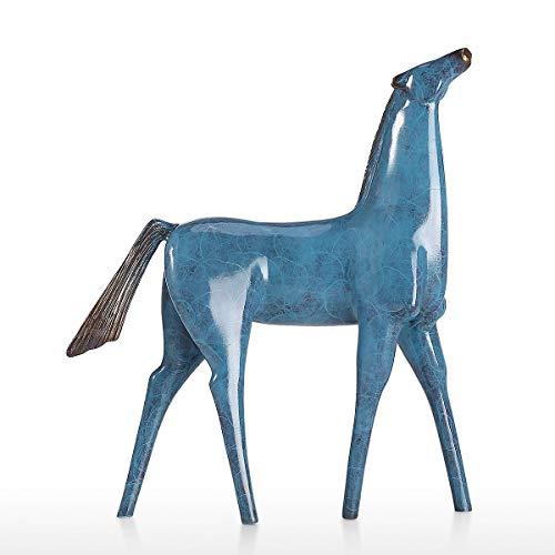 Hylotele Tooarts Anhebung Kopf Pferd Skulptur Bronze Tier Skulptur Pferd Statue Figur Home Office Desktop Ornament Dekorative Akzent