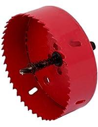 Tradico® 110mm Cutting Dia 95mm Long Metal Triangle Shank Bi-Metal Hole Saw Drilling Tool