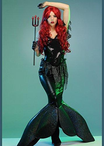Womens Ariel Kostüm - Magic Box Int. Womens Gothic Ariel Dark Little Meerjungfrau Kostüm S (UK 8-10)