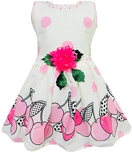 ALL ABOUT PINKS® Baby Girls Party Wear Frock Dress Baby Dresses Girls 1 Year Birthday Dress Baby Frocks 12-18 Months Baby Dresses 12-18 Months Baby Frocks Cotton (Pink)