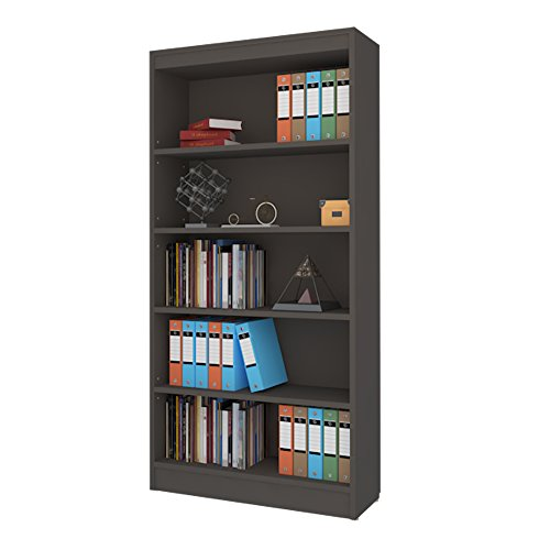 Alpha Bookcase with 4 shelf, 67 inch high- Grey