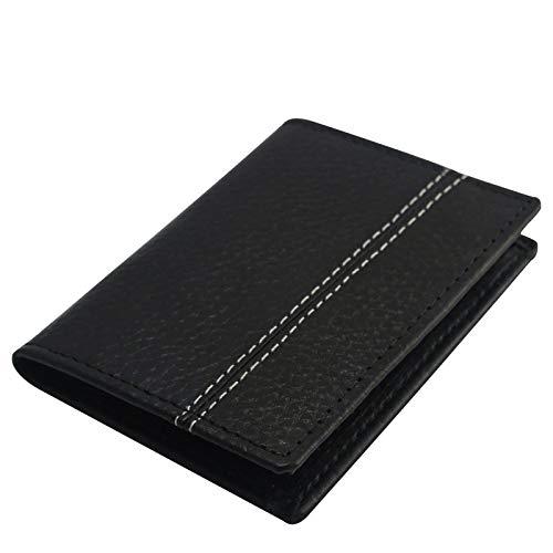 Mens Echtes Leder Schwarz Kreditkarten-Halter, ID-Halter, Slim Wallet, Card Case,Business Kreditkarteninhaber, Kreditkarte Fall -