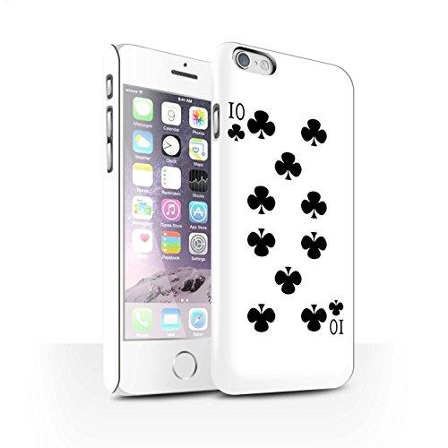 STUFF4 Matte Snap-On Hülle / Case für Apple iPhone 8 Plus / Herz-Ass Muster / Kartenspielen Kollektion 10 von Kreuz
