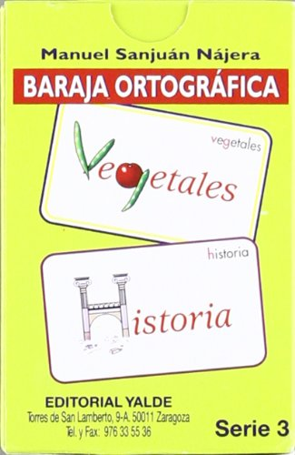 Baraja Ortografica 3. por Manuel Sanjuán Nájera