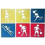 Nicedeal 1 juego de plantillas práctico tablero de dibujo y Pintura lavable de bricolaje plantillas Plantillas para niños de Educación de giro (Sport) la escuela y de oficina en el hogar