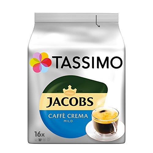 Tassimo Jacobs Caffè Crema Mild, 5er Pack Kaffee T Discs (5 x 16 Getränke)