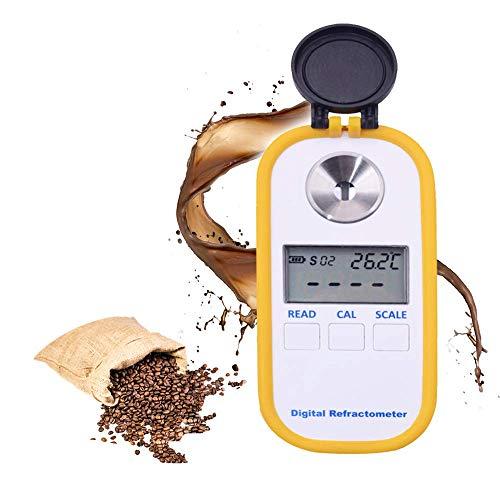 TOPQSC Rifrattometro digitale Per lo Zucchero Misuratore Elettronico Portatile Per Caffè Misuratore di Densità Delle Bevande Zuccherate Brix TDS Meter 0-50{f7d07a1fa5c2a67c9b75ca17203e2df5b6888aa6cae8152f24ed440394860159}