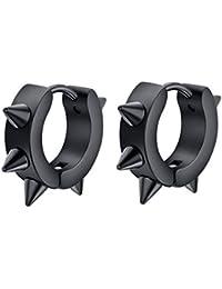 YAZILIND hombres oreja perno titanio acero moda personalidad erizo aro piercing pendientes joyas regalo