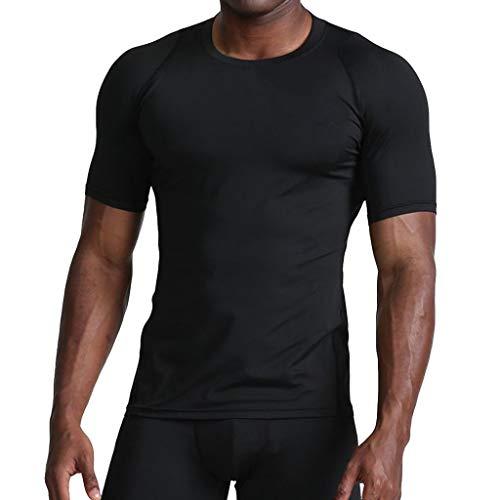 Herren Sport Performance T-Shirt, Atmungsaktiv Schnell trocknend für Training Gym Fitness & Bodybuilding -
