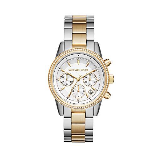 Michael Kors Damen Analog Quarz Uhr mit Edelstahl Armband MK6474