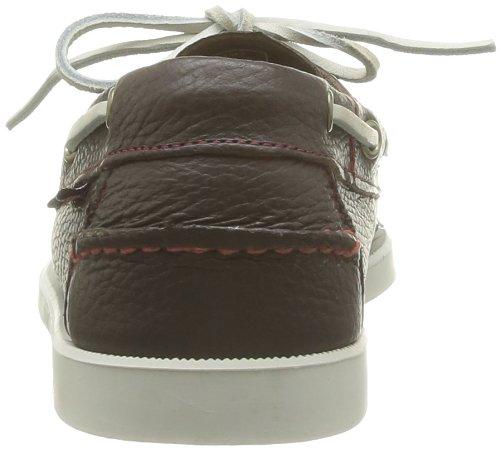 Sebago Docksides, Chaussures Bateau Homme Marron (Dk Brown/Wht Os)