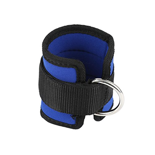 aaerp d-Ring Ankle Anchor Strap Belt Multi Gym Cable Attachment Thigh Leg Pulley Strap, blau, 40 x 5cm(L * W) -