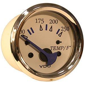 VDO Allentare White 250° F Water Temperature Gauge - Use w/Marine 450-29 Ohm Sender - 12V