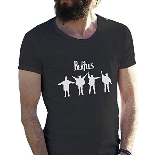 The Beatles Rock Kings Negro Camiseta para hombre XX Large