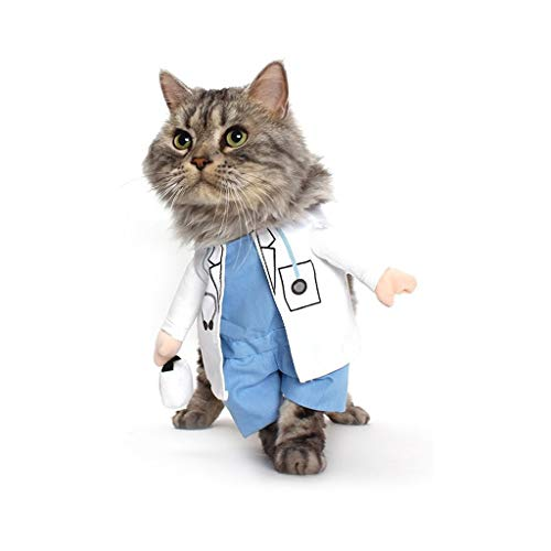 et Suit Kleidung Requisiten Hund Katze Arzt Kostüm Haustier Arzt Kleidung Halloween Jeans Outfit Bekleidung -Doctor (größe : S) ()