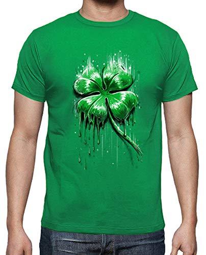 tostadora - T-Shirt Quadrifoglio - Uomo Verde Prato XL