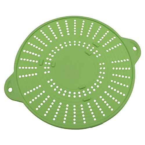 bremermann 3in1 Spritzschutz, Untersetzer, Abgießhilfe für Töpfe und Pfannen aus Silikon (Grün)