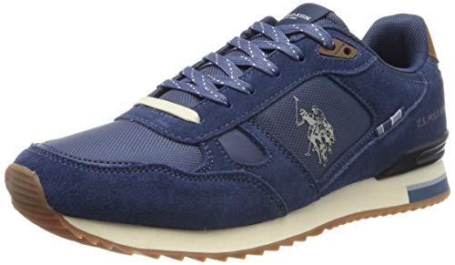 U.S. Polo Assn. Herren Wilde1 Suede Gymnastikschuhe, Blau (Blu 008), 44 EU