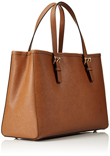 Michael Kors Jet Set Travel Saffiano Leather Medium, Sacs à Main Femmes, 35 cm Marron (Luggage)